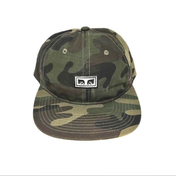 311d6e38045 OBEY Overthrow Camo 6-panel Snapback Hat   Cap